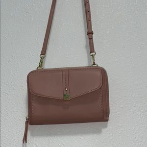 Rusty pink body strap purse. Hardly used